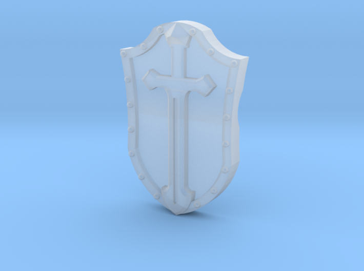 Arm-mounted Combat Shields (Sword Detail) 3d printed