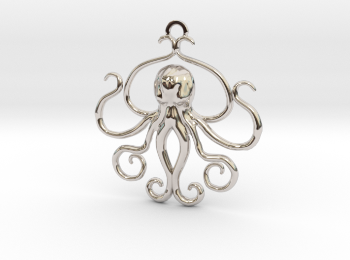 Cthulhu Sculpted Pendant 3d printed