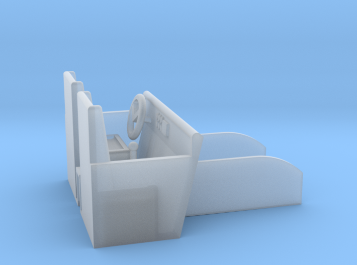 Day Cab 2 Door Interior 1-87 HO Scale 3d printed