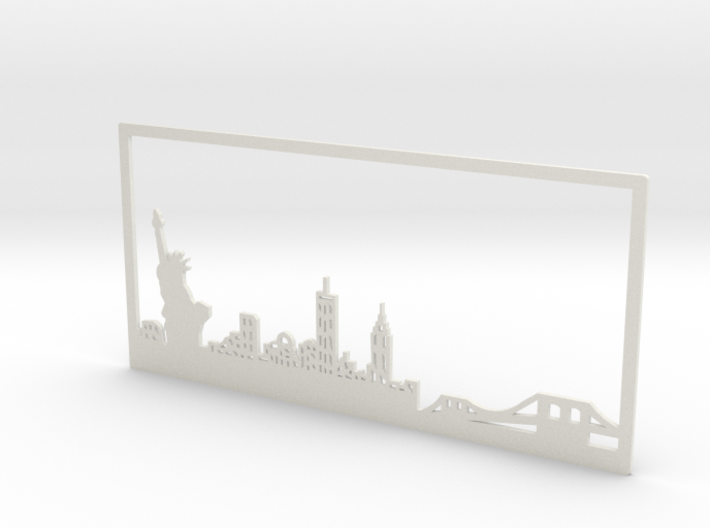 New York Skyline - 5.5 X 11.5 (L) 3d printed