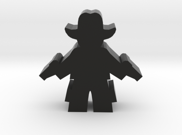 Game Piece, Cowboy, Standing Two Pistols 3d printed