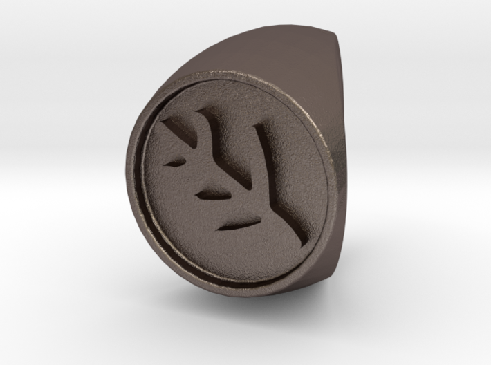 Classic Elder Sign Ring Size 12 3d printed
