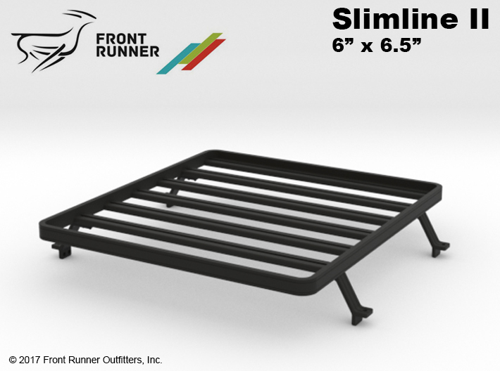 FR10018 SR5 Slimline II Bed Rack 6.0 x 6.5 3d printed This is the part yo u will receive.