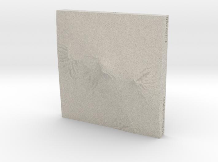 3''/7.5cm Mt. Kilimanjaro, Tanzania, Sandstone 3d printed