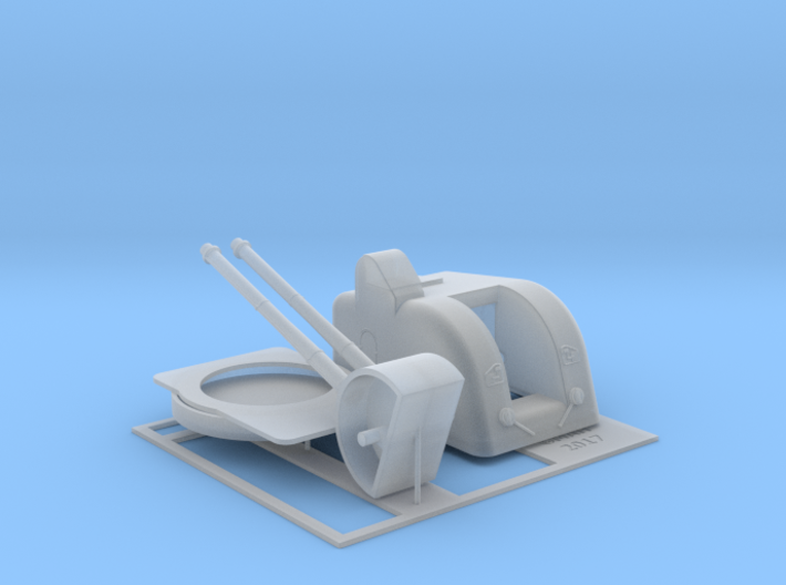 Twin Bofors 120mm Turret 1/96 3d printed