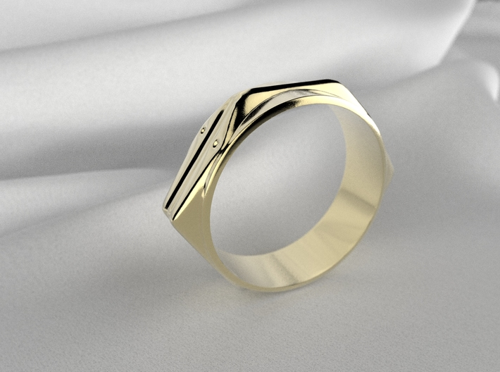 Abstract Ring No.4 3d printed