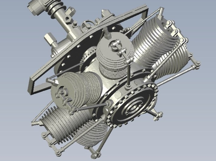 1/24 scale Gnome 7 Omega rotary engines x 2 3d printed