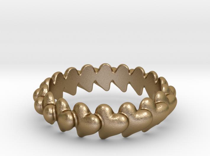 Hearts Bracelet 72 3d printed