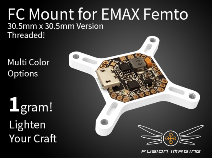 Femto FC 30.5x30.5mm Mount / Transfer Plate 3d printed