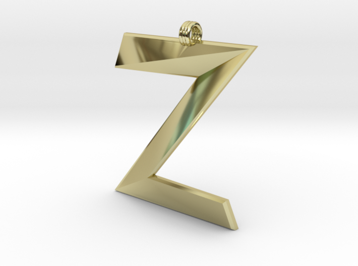 Distorted letter Z 3d printed