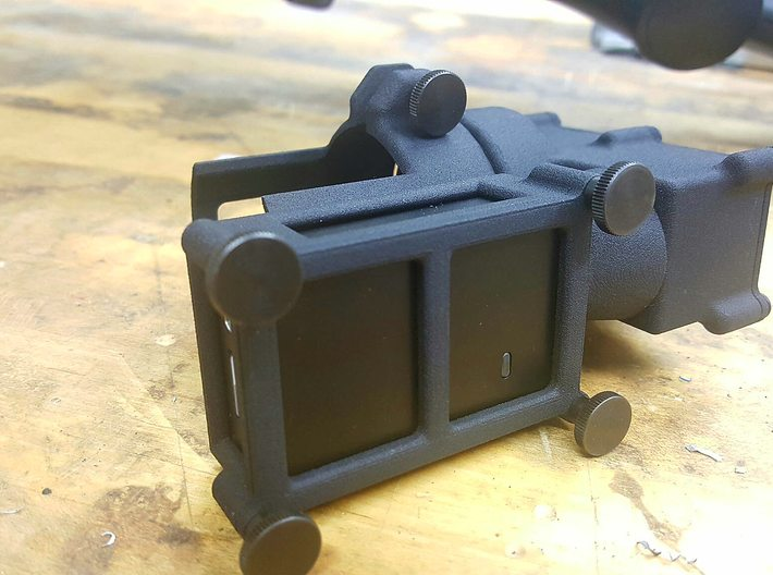 Mobius 2 Scope camera mount  PUNISHER 3d printed Thumb screws for camera housing