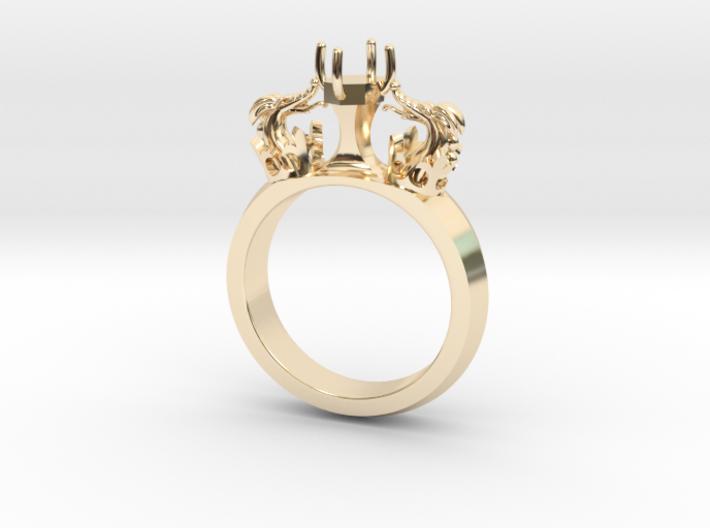 Ring Venetian Dragons 3d printed