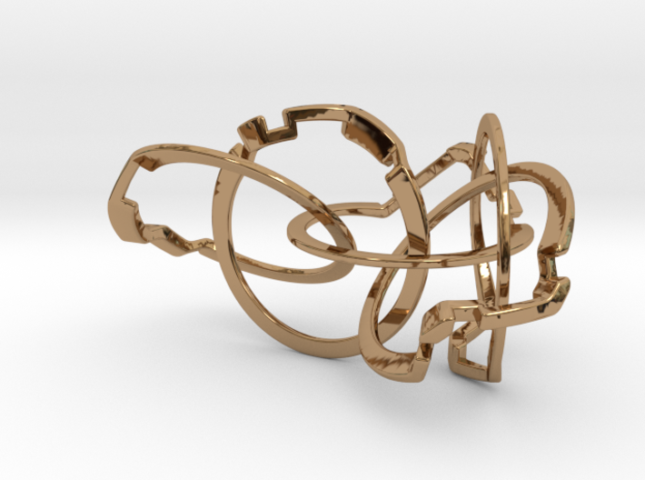 Olympic Puzzle Ring metal 3d printed