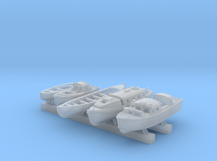 1/600 Scale RN Tribal Class Boat Set 3d printed 1/600 Scale RN Tribal Class Boat Set