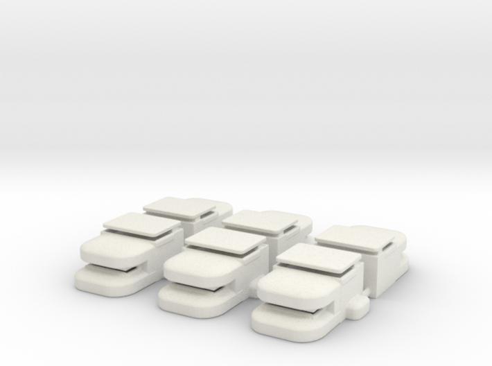 Heavy Bunker Set of (6) 3d printed