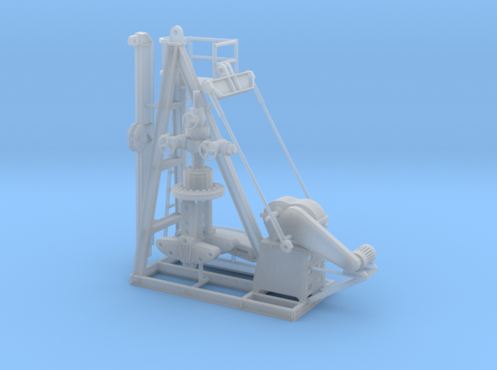 1/50th Small Oil Well Pump Jack & Wellhead 3d printed