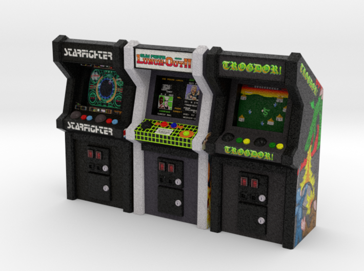 Row of Arcade Games #1, 35mm 3d printed