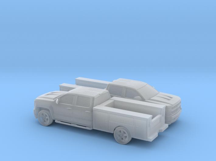 1/160 2X 2016 Chevrolet Silverado Crew Cab Utilit 3d printed