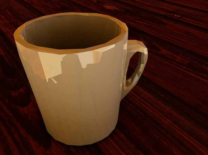 Low Poly Coffee Cup 3d printed