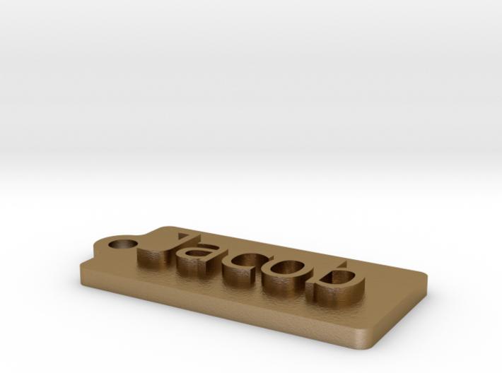 Name Tag Jacob Key chain Zipper 2x1in 50x25mm 5mm  3d printed