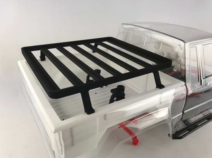 FR10018 SR5 Slimline II Bed Rack 6.0 x 6.5 3d printed PLEASE NOTE: This rack is compatable with the stock Pro-Line SR5 tray and the Knight Customs Sr510011 SR5 Bed Liner (sold separately).