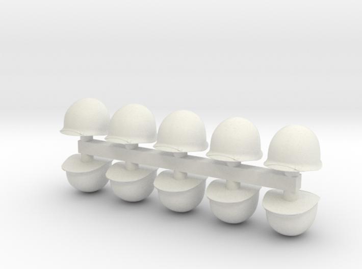1-30 US M1 Helmets Set1 3d printed