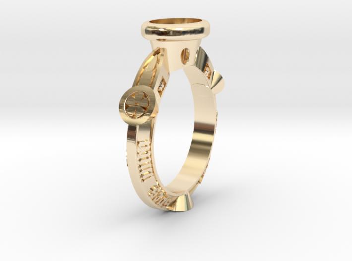 Ring Floris 3d printed