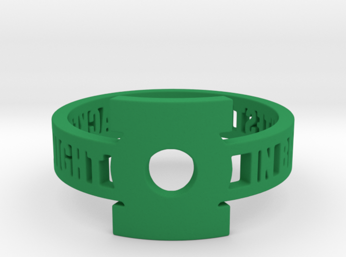 Green Lantern Oath Ring 3d printed