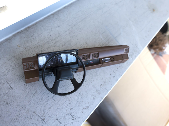 RCN009 dashboard for Pro-Line Toyota SR5  3d printed