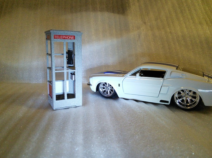Telephone Booth, 1/32 Scale 3d printed Looks good beside 1967 Shelby GT-500.