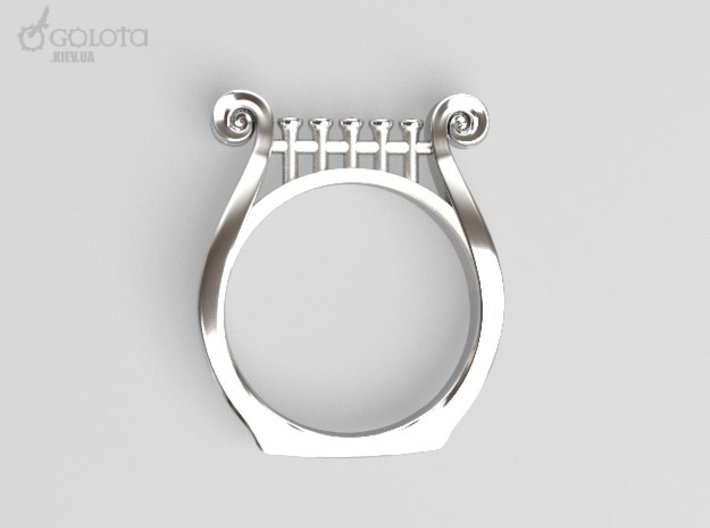 Lyre Ring  3d printed