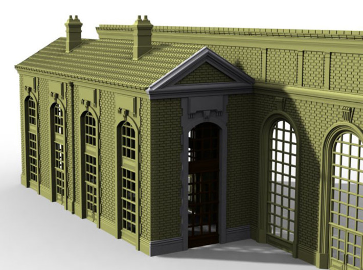 NGG-BVA01cd - Large Railway Station 3d printed