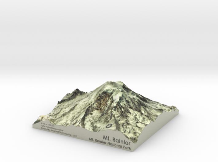 "Mt. Rainier Map - 5"" 3d printed"