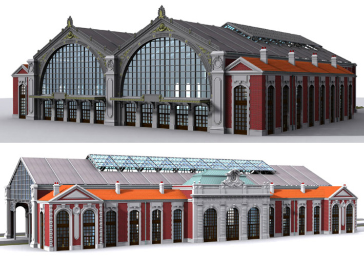 NGG-VerToit01 - Large Railway Station 3d printed