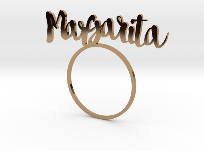 Margarita [Cocktail LetteRing©] 3d printed