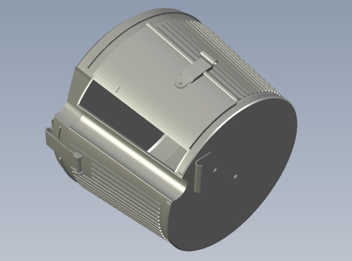 1/15 scale WWII Wehrmacht MG-42 drum magazine x 4 3d printed