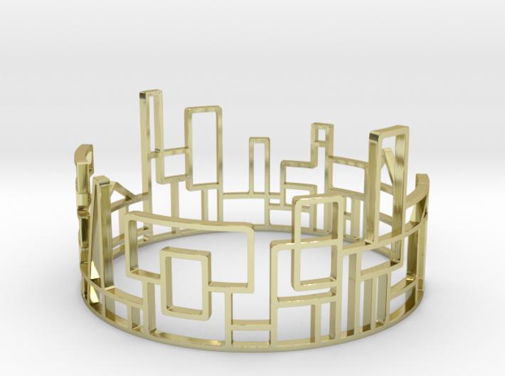 SKYLINE Bracelet Medium Size D=65mm 3d printed