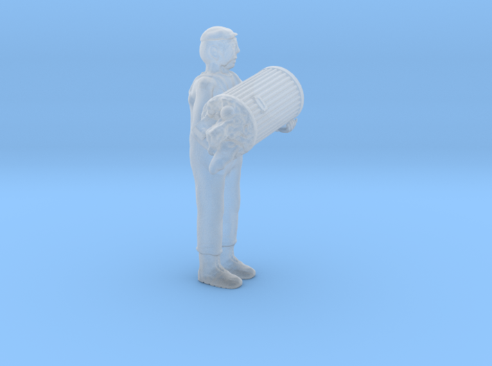 O Scale Garbage Man w Trash Can, Full 3d printed
