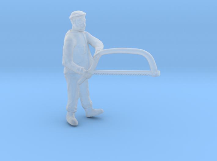 O Logging Bucker w Bow Saw Figure 3d printed
