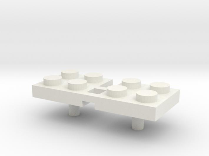 2x2 Peg 3mm Handle (x 2) 3d printed