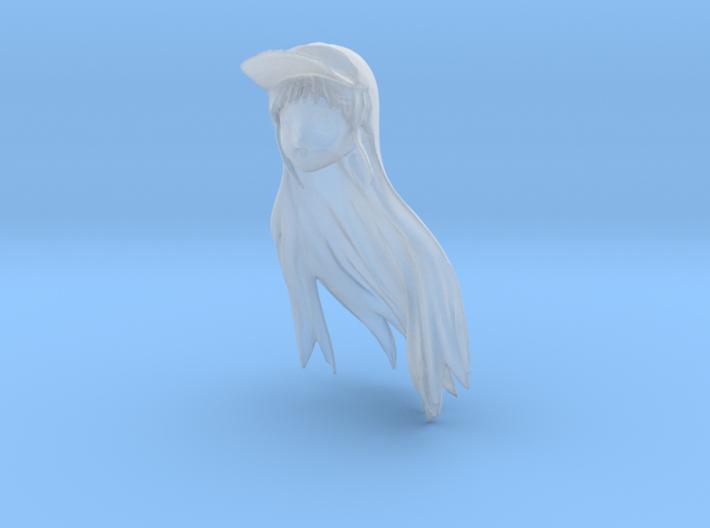 1/24 Race Queen Head Sculpt 3d printed