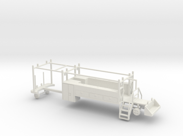 MOW Rail Truck 2 Door Cab Tool Bed 1-87 HO Scale 3d printed