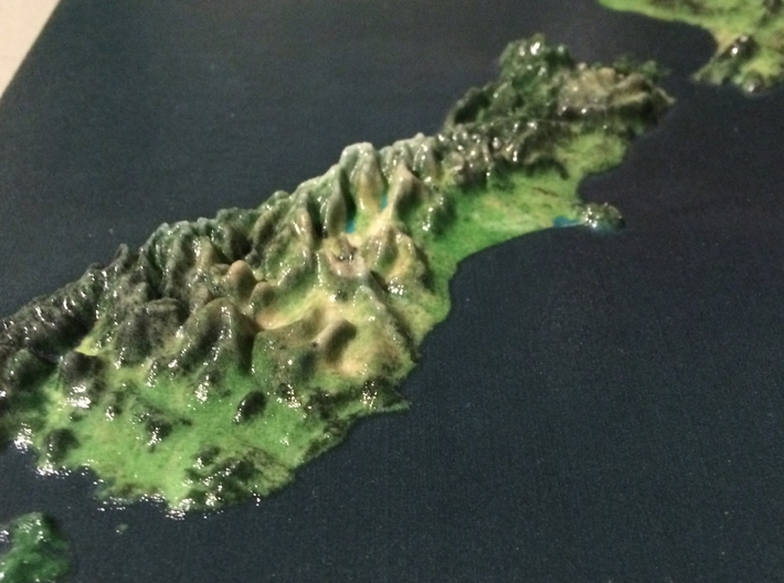 New Zealand Map 3d printed