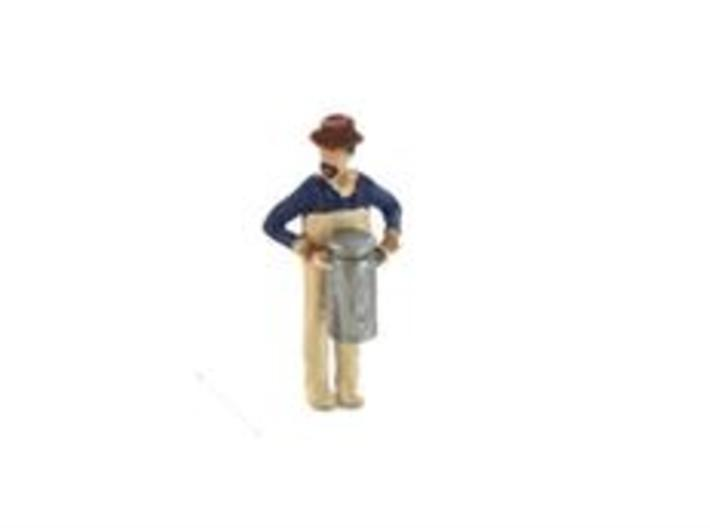 S Dairyman lugging Milk Can Figure 3d printed Dairy Worker busy lugging Milk Can
