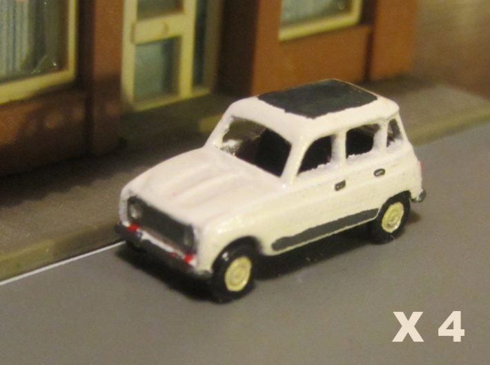 Renault 4 Hatchback 1:160 scale (Lot of 4 cars) 3d printed Lot of 4 cars, Paint not included