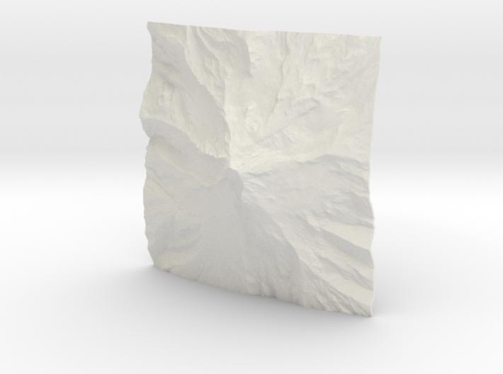 3'' Mt. Hood Terrain Model, Oregon, USA 3d printed