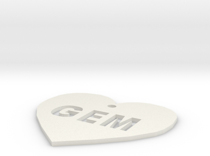 """Heart Name Tag Large (2.5"""") 3d printed"""