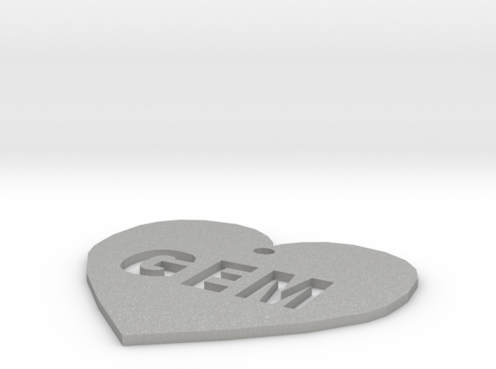 "Heart Name Tag Medium (2"") 3d printed"
