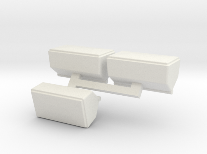 3 fertilizer boxes for white 3d printed