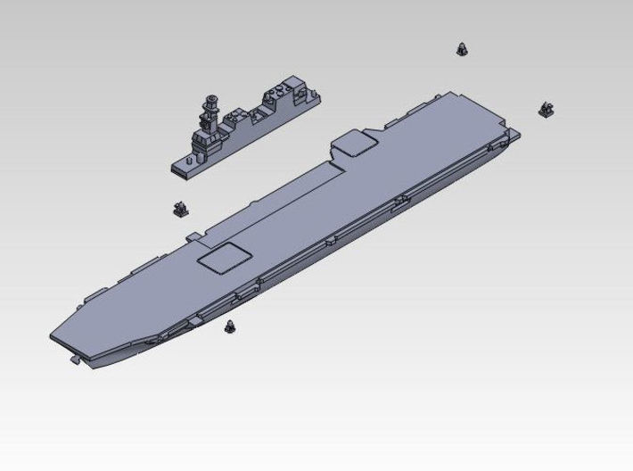 30SJ01a 1:3000 multipart 22DDH Izumo - Hull 3d printed ASSEMBLY